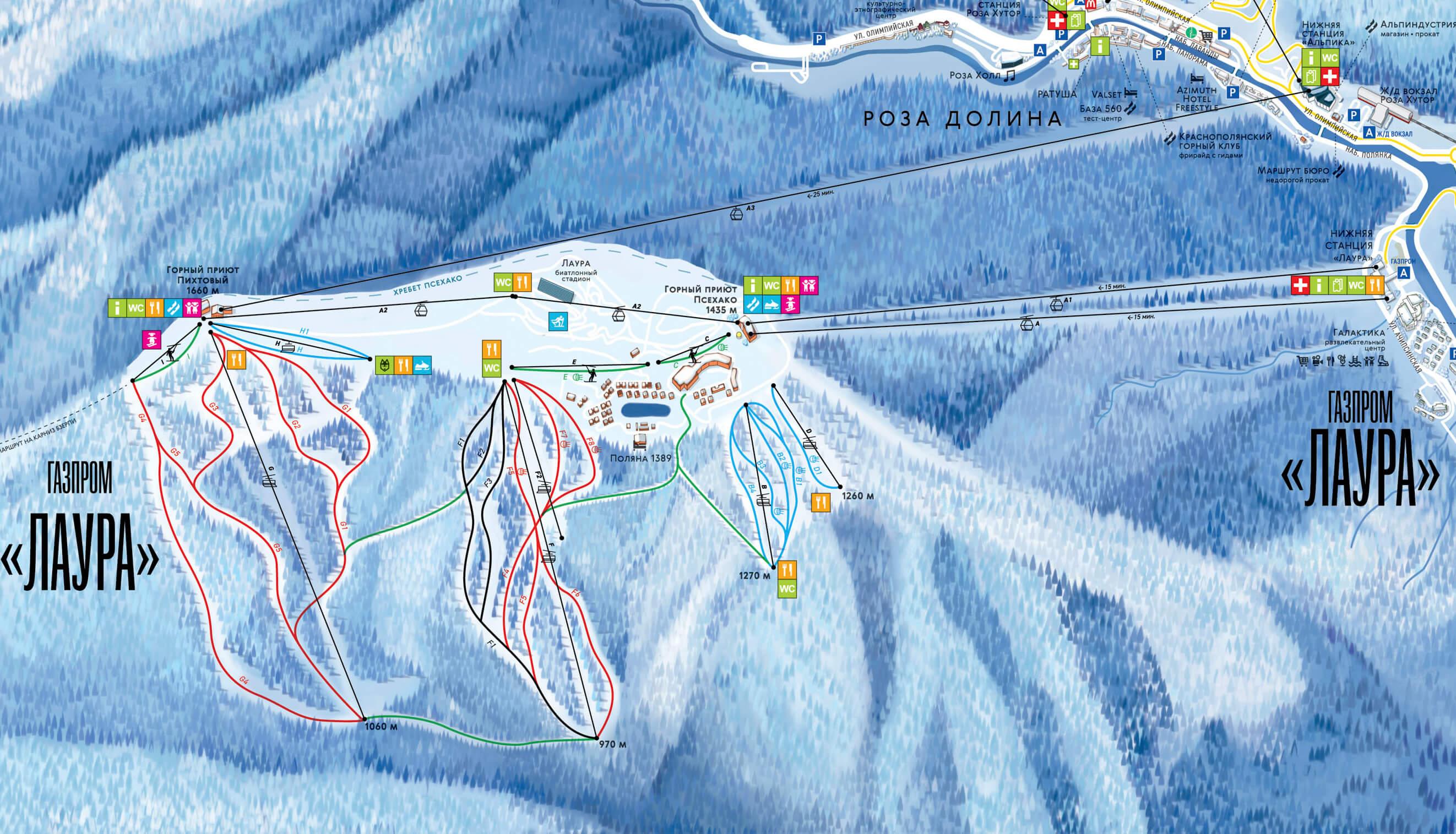 карта трасс газпром