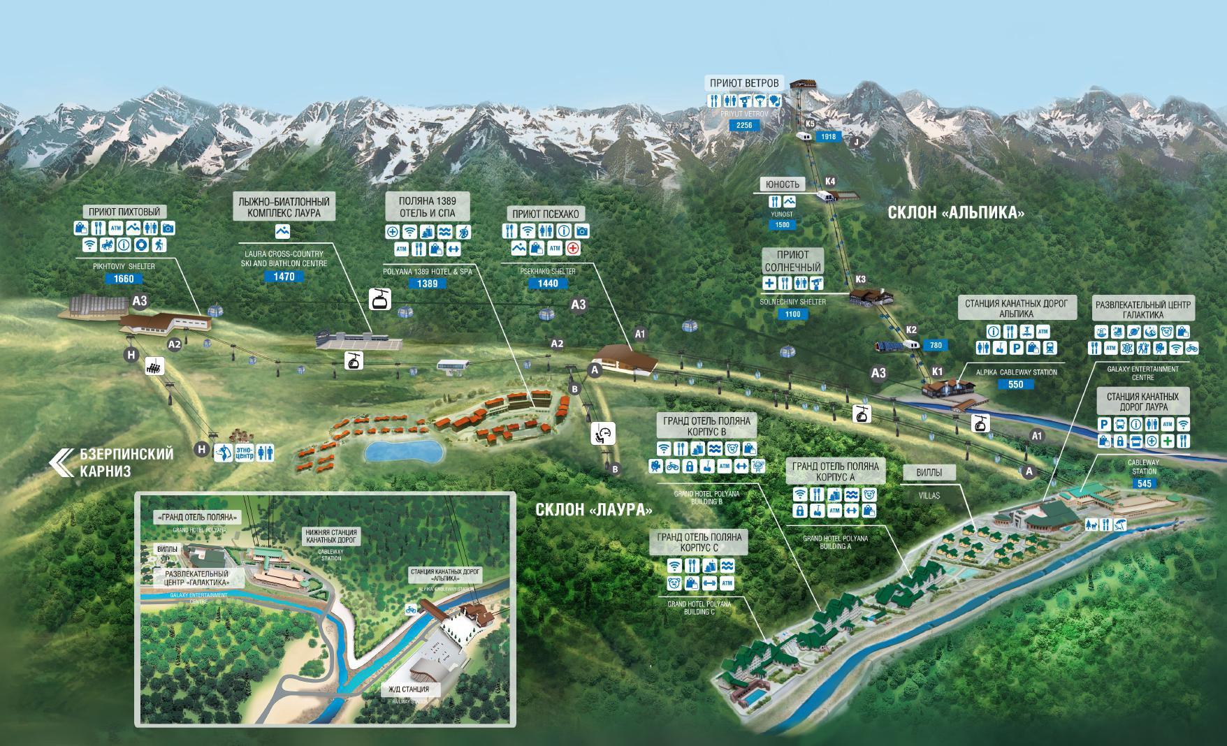 Летняя карта ГТЦ Газпром