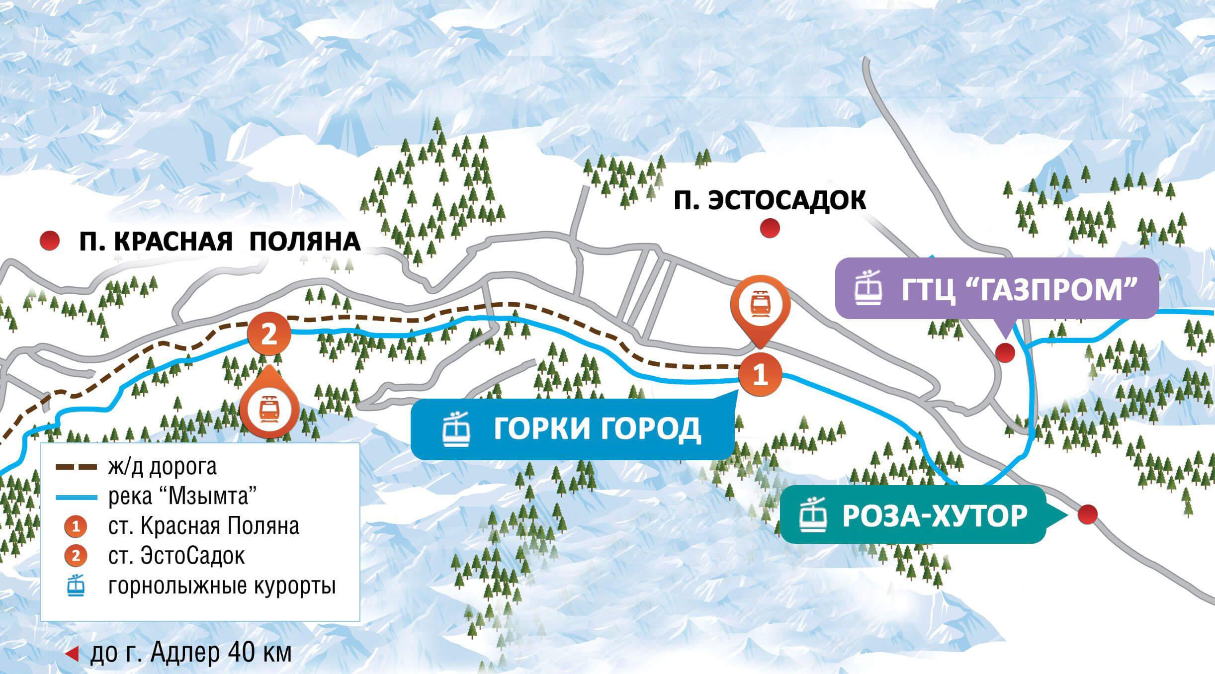 Красная Поляна — обзор курорта