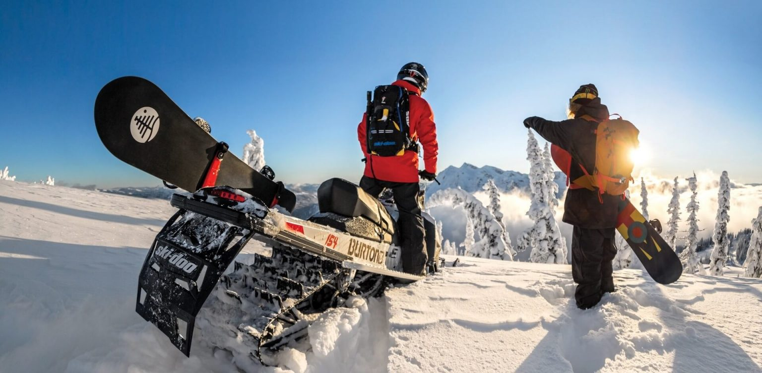 фрирайд на снегоходах Шерегеш