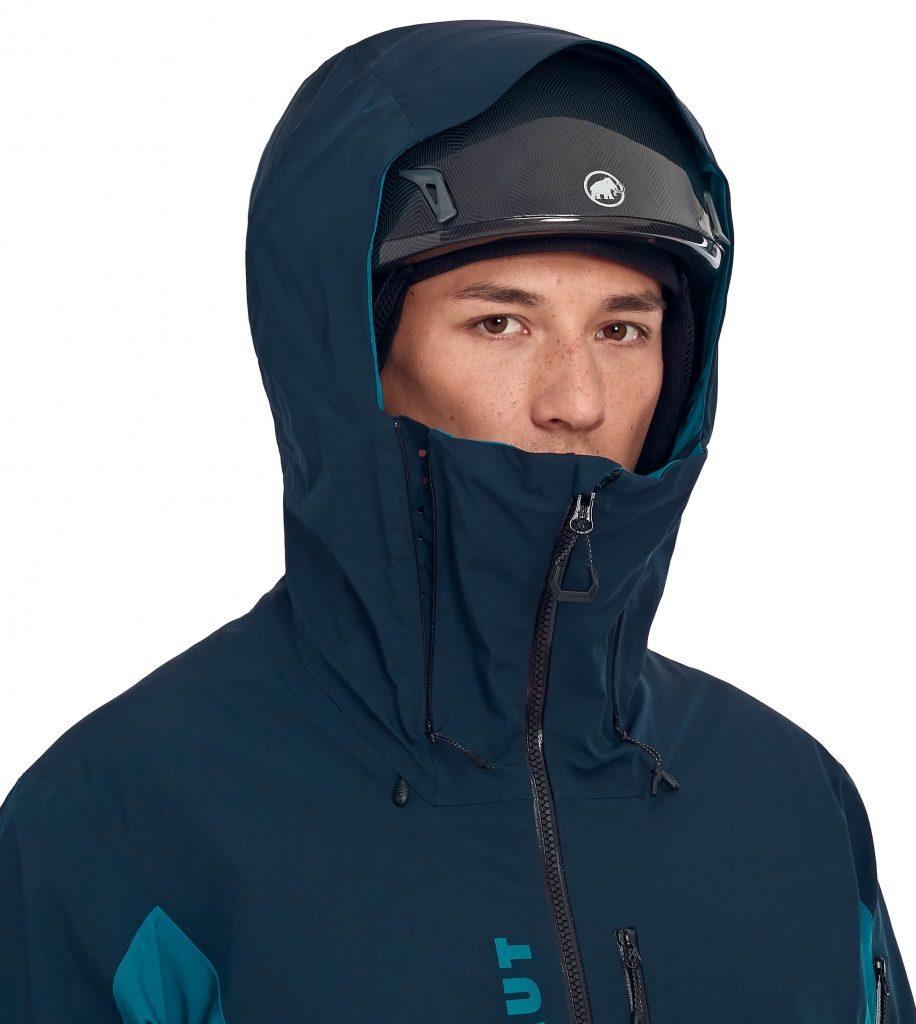 капюшон горнолыжной куртки