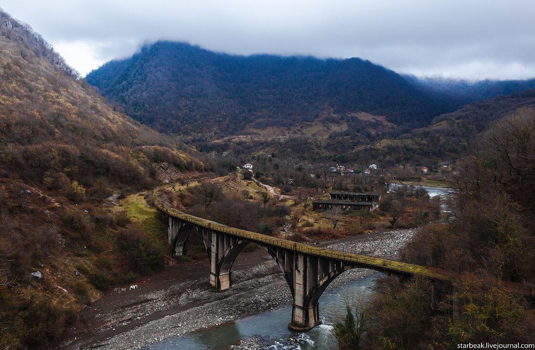 абхазия Акармарский мост достопримечательности